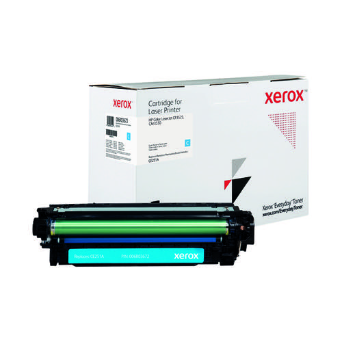 Xerox Everyday Replacement For CE251A Laser Toner Cyan 006R03672