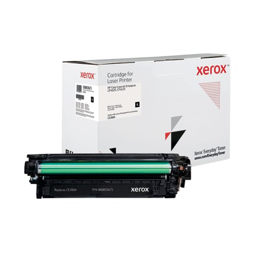 Xerox Everyday Replacement For CE260A Laser Toner Black 006R03675