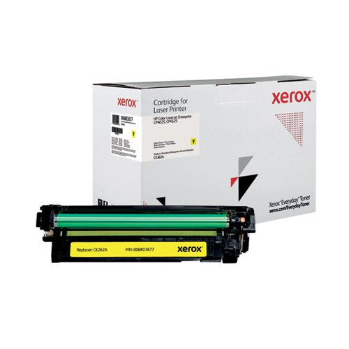 Xerox Everyday Replacement For CE262A Laser Toner Yellow 006R03677