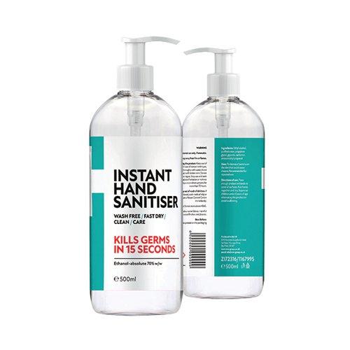 Fourplus 70% Hand Sanitiser 500ml Pump Top (Pack of 6) ZI5060748723161