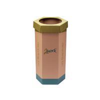 2Work Green Recycling Bin Pack of 3 CAP582758/A