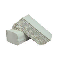 2Work 1-Ply I-Fold Hand Towel White (Pack of 3600) 2W70723