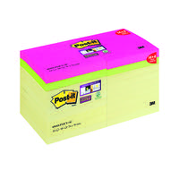 Post-it Super Sticky Notes Canary Yellow 76 x 76mm 90 sheet Pack of 18 654SS-P14CY+4C