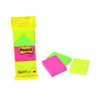 Post-It Neon Colour Notes 38X51mm Red, Green And Yellow 100 Sheet Pads Pk12 6812