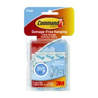 Command Clear Adhesive Strips Assorted Sizes (Pack of 16) 17200CLR