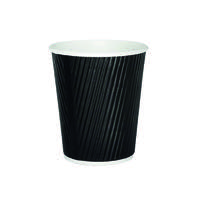 25cl Black Ripple Cup (Pack of 500) HVRWBPA08