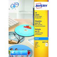 Avery Full Face Inkjet White CD Labels 2 Per Sheet (Pack of 50) J8676-25