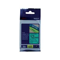 Brother P-Touch 12mm Black on Green TZE731 Labelling Tape TZE731