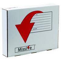Missive Value Garment Mailing Box (Pack of 20) FOC Cadbury Heroes Variety Bag BB810557