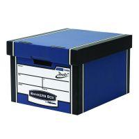 Fellowes Bankers Box Premium Storage Box Blue Pack of 12 Buy 2 Get FOC Iderama Binders BB810562