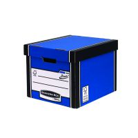 Fellowes Bankers Box Tall Storage Box Blue Pack of 12 Buy 2 Get FOC Iderama Binders BB810564