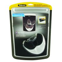 Fellowes Easyglide Gel Mouse Pad and Wrist Rest Black 9373001