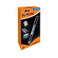 Bic Marking Permanent Marker Fine Black (Pack of 12) 968476