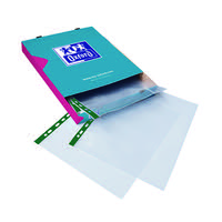 Elba A4 Clear Punch Pocket Green Spine (Pack of 100) 400002137