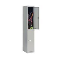 Bisley 2 Door Locker 305x305x1802mm Goose Grey CLK122 GOOSE
