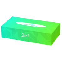 2Work Facial Tissue 100 Sheet Cream Box (Pack of 36) KMAX10011