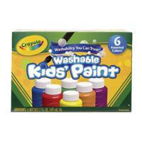 Crayola 6 Washable Kids Paint Colours CRY2828