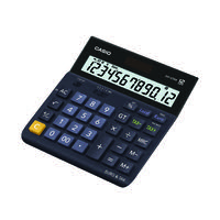 Casio 12 Digit Landscape Tax/Currency Calculator Black DH-12TER-S-EH