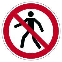 Durable Pedestrians Prohibited Floor Sign 173203