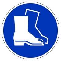 Durable Use Foot Protection Floor Sign173306
