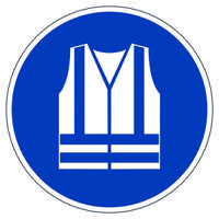 Durable Use Safety Vest Floor Sign173506