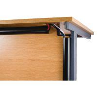 D-Line Black Desk Trunking Cable Management 50x25mm 1.5m (Pack of 2) 2D155025B
