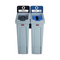 059783 Acorn Black Cartridge //Yellow Recycling Bin 60 Litre Pack of 5