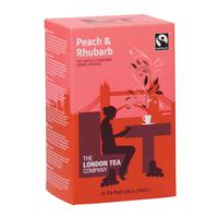 London Tea Peach and Rhubarb Tea Pack of 20 FLT19155