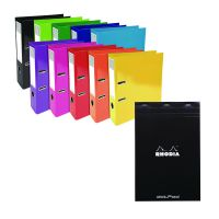 Iderama Lever Arch File 70mm Assorted (Pack of 10) FOC Rhodia Dot Pads (Pack of 5) GH811509