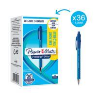 PaperMate FlexGrip Ultra Retract Ball Pen Blue (Pack of 36) 1910074
