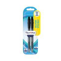 Papermate Flexgrip Retractable Ballpoint Pen Medium Tip Blister Black (Pack of 24) S0181222