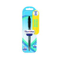 PaperMate Flexgrip Retractable Ball Pen Black (Pack of 12) 2027738