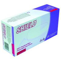 Shield Powdered Blue Small Latex Gloves (Pack of 100) GD41