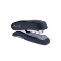 Rapesco Flat Clinch Half Strip Stapler Capacity 30 Sheets Black 1064