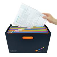 Foolscap A-Z 19 Pocket Expanding File Coloured Tabs Document Storage KF04091