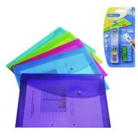 Rapesco Popper Wallet Foolscap Assorted with free Supaclip 40 Dispenser 688