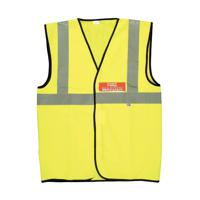 Fire Warden Vest High Visibility XL Yellow IVGFVW
