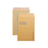 New Guardian Board Back C4 Window Envelopes 130gsm Manilla Peel and Seal (Pack of 125) B26526