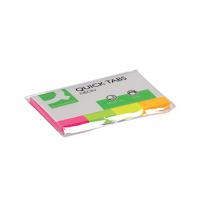 Q-Connect Quick Tabs 20 x 50mm Neon Pack of 200 KF01226