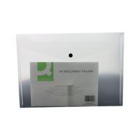 Q-Connect A4 Clear Polypropylene Popper Folder (Pack of 12) KF01244Q