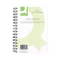 Q-Connect Wiro Bound Carbonless Triplicate Book 8x5 Inches KF01344