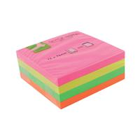Q-Connect Quick Notes Cube 76 x 76mm Neon KF01348