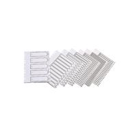 Q-Connect Multi-Punched A-Z 20-Part Polypropylene White A4 Index KF01351