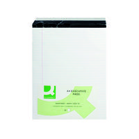 Q-Connect Ruled Stitch Bound Executive Pad 104 Pages A4 White (Pack of 10) KF01386