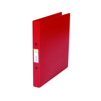 Q-Connect 2 Ring 25mm Polypropylene Red A4 Binder (Pack of 10) KF02008