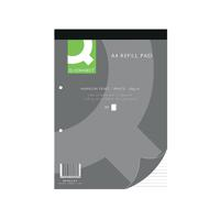 Q-Connect Narrow Feint Ruled Headbound Refill Pad 160 Pages A4 (Pack of 10) KF02229