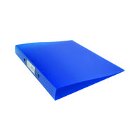 Q-Connect 2 Ring Frosted Blue A4 Binder KF02483