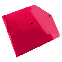 Q-Connect Polypropylene Document Folder A4 Red (Pack of 12) KF03594