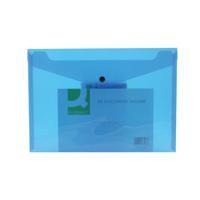 Q-Connect A4 Blue Polypropylene Popper Folder (Pack of 12) KF03596