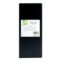 Q-Connect Polypropylene Name Business Card Holder 96 Card Black KF03663